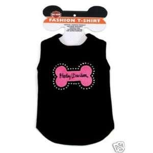 Harley Davidson Hot Pink Bone Dog Tee Shirt MEDIUM