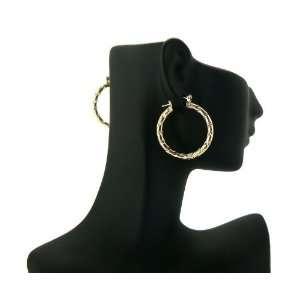 Basketball Wives PaParazzi Hoop Earring Gold LXE10G 30mm