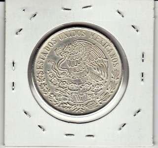 Mexico $ 100 Pesos Morelos Silver Coin 20g .720 1977.