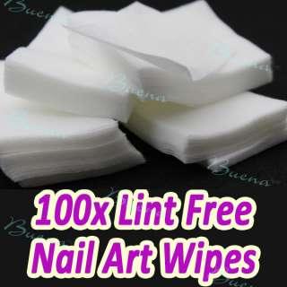 Polish Pad Nail Wipes for UV Gel Acrylic Nail Art Tips Remover