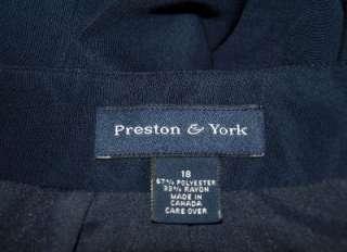 PRESTON AND YORK NAVY BLUE PENCIL HIGH WAIST SKIRT SIZE 18