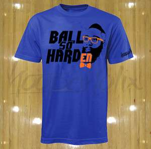 Harden t shirt OKC Oklahoma City Thunder tee Ball So Hard jersey nba