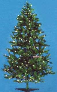 FT ARTIFICIAL CHRISTMAS TREE NOBLE FIR 200 LIGHTS INDOOR/OUTDOOR NEW