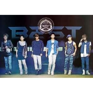 B2ST onstage blue horiz POSTER 34 x 23.5 Korean boy band B