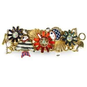 Betsey Johnson Mermaids Tale Cascade Bracelet: Jewelry