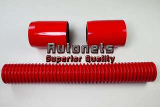 12 Red Stainless Radiator Hose Kit FORD CHEVY MOPAR