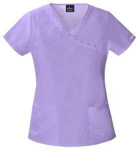 Baby Phat Mock Wrap Top Scrub in Lavender Wave   26908LAVP