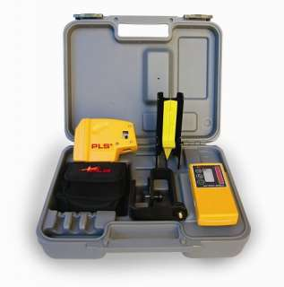PLS PLS5 System With Detector Self Leveling 5 Point Laser Level