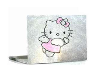 Bling Crystal kitty Laptop Cover Skin Stickers hp dell