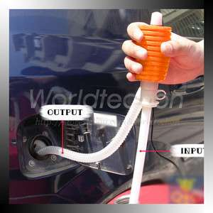 Practical Simple Manual Hand Siphon Liquid Car Water Oil Transfer Pump
