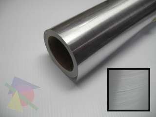25 Wide Brushed Silver Chrome Vinyl Sign Film Roll