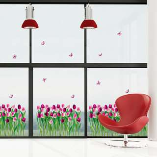 Tulip Flower Garden wall decals vinyl stickers