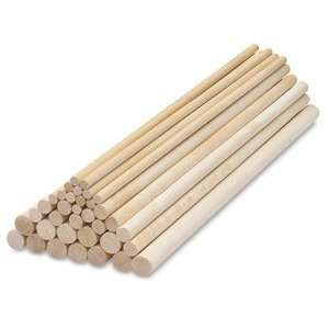 Wooden Dowel Rods   Dowel Rods, Pkg of 12, 12, 1/4: Arts